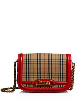 Burberry - 1983 Check Link Medium Fabric & Patent Leather Shoulder Bag