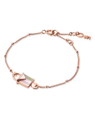 Michael Kors Kors Color Semi-Precious 14K Rose Gold-Plated Sterling Silver Bracelet