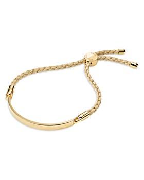 204c7ce08cbc82 Michael Kors - Custom Kors Sterling Silver Cord Bracelet in 14K Gold-Plated Sterling  Silver ...
