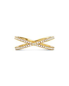 Michael Kors - Custom Kors Sterling Silver Pavé Nesting Ring Insert in 14K Gold-Plated Sterling Silver, 14K Rose Gold-Plated Sterling Silver or Solid Sterling Silver