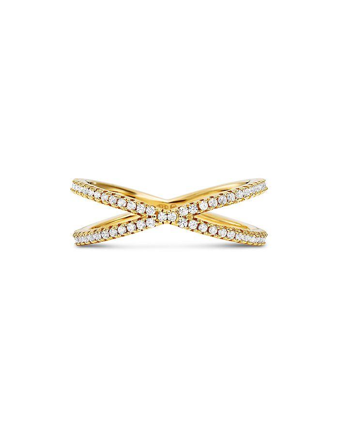 0c57b621c42b3 Custom Kors Sterling Silver Pavé Nesting Ring Insert in 14K Gold-Plated  Sterling Silver, 14K Rose Gold-Plated Sterling Silver or Solid Sterling ...