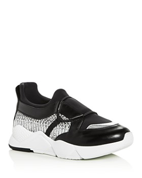 Clergerie - Women's Salvy Mixed Media Slip-On Sneakers