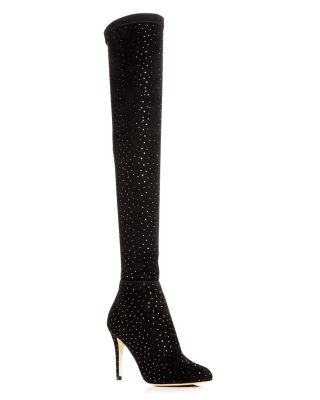 7866e69f0f Jimmy Choo Women's Toni 90 Scattered Crystal Suede Over-the-Knee Boots |  Bloomingdale's