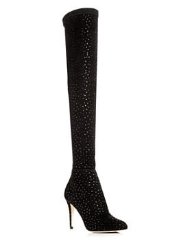 95583d8f6aa Jimmy Choo - Women s Toni 90 Scattered Crystal Suede Over-the-Knee Boots ...