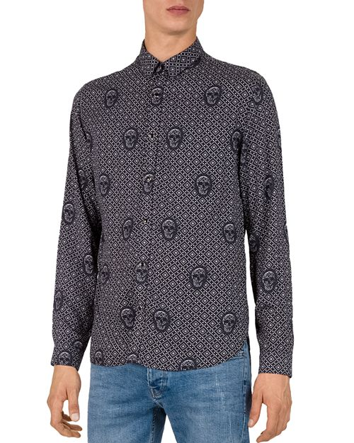The Kooples - Relief Skull Slim Fit Button-Down Shirt