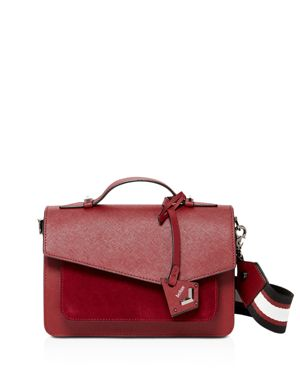 Cobble Hill Calfskin Leather Crossbody Bag - Burgundy