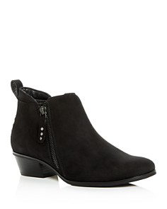 Paul Green - Women's Travis Nubuck Leather Low-Heel Booties