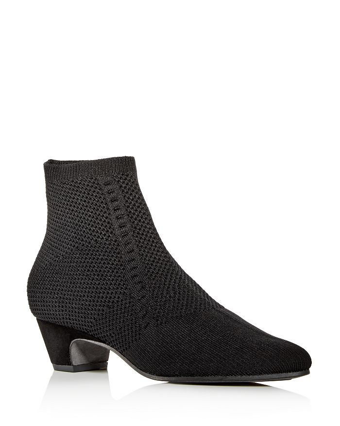 Eileen Fisher - Women's Purl Knit Low-Heel Booties