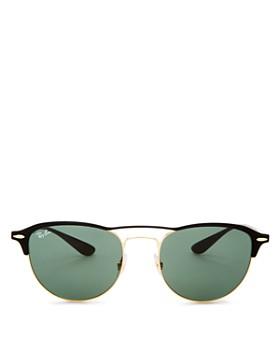 Ray-Ban - Men's Brow Bar Round Sunglasses, 54mm