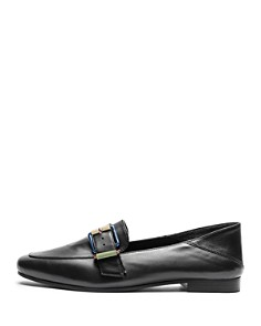 Zadig & Voltaire - Women's Happy Metal Almond Toe Leather Loafers