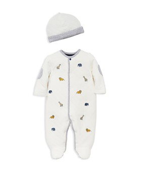 Little Me - Boys' Quilted Animal-Print Footie & Hat Set - Baby