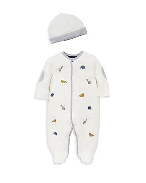 Little Me Boys Quilted AnimalPrint Footie  Hat Set  Baby