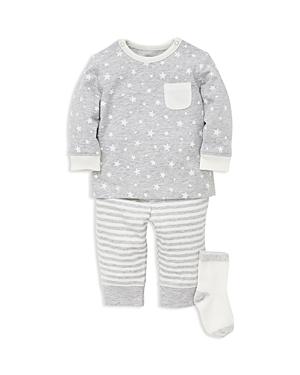 Little Me Boys StarPrint Tee  Striped Jogger Pants Set with Socks  Baby