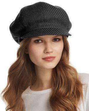 Texture Wool Baker Boy Cap - Black