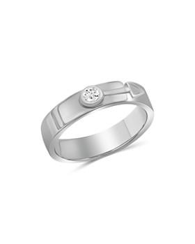 Love and Pride - 14K White Gold Diamond Male Insignia Ring