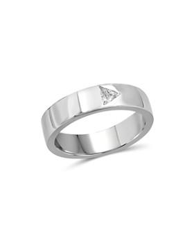 Love and Pride - 14K White Gold Trillion Diamond Ring