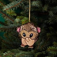 Bloomingdale's Sequin Monkey Emoji Ornament - 100% Exclusive_0