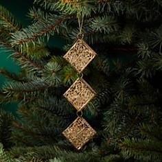 Bloomingdale's Beaded Metal Rhombus Ornament - 100% Exclusive_0