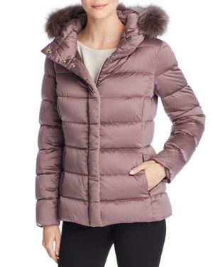 Herno Bonbon Fur Trim Slim Fit Down Coat