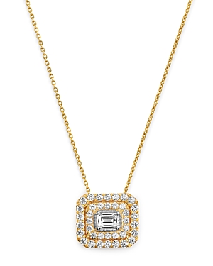 Bloomingdale's Diamond Halo Pendant Necklace in 14K Yellow Gold, 0.75 ct. t.w. - 100% Exclusive