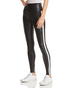 SPANX® - Faux-Leather Stripe Leggings