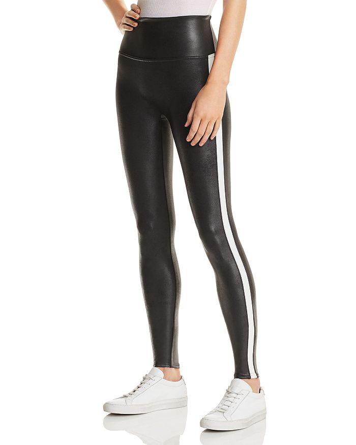 0c39aa9331de1 SPANX® Faux Leather Stripe Leggings   Bloomingdale's