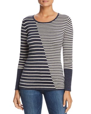 Nic+Zoe Serene Mixed Stripe Top