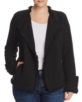 Fringe Trim Jacket by Nic And Zoe Plus