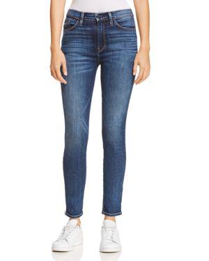 HUDSON Barbara Stripe High Waist Ankle Skinny Jeans in Hypnotic