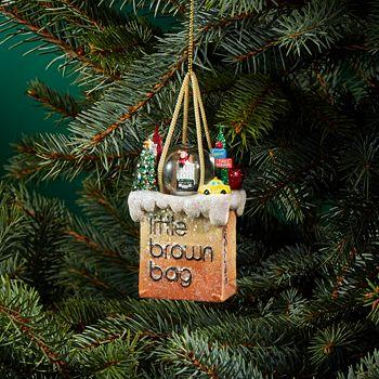 Bloomingdale's - Little Brown Bag New York Ornament - 100% Exclusive - Bloomingdale's Little Brown Bag New York Ornament - 100% Exclusive