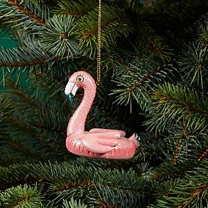 Kurt Adler Pink Flamingo Pool Float Ornament