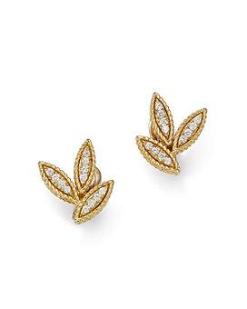 Roberto Coin - 18K Yellow Gold Diamond Petals Diamond Earrings - 100% Exclusive