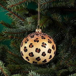 Joy to the World Bloomingdale's Leopard Glass Ball Ornament - 100% Exclusive