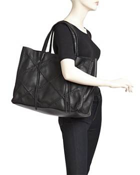 Callista - Iconic Cross Medium Leather Tote