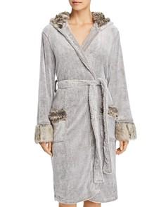 PJ Salvage - Aspen Faux Fur Trim Plush Robe