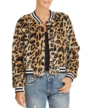 Jack by BB DAKOTA - Clever Girl Leopard Print Faux Fur Bomber Jacket