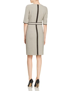 BOSS - Doliviena Belted Check-Print Dress