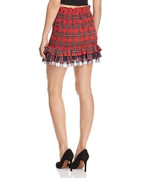 Endless Rose - Smocked Plaid Skirt