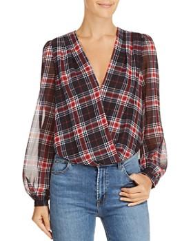 Lucy Paris - Plaid Blouson Bodysuit - 100% Exclusive