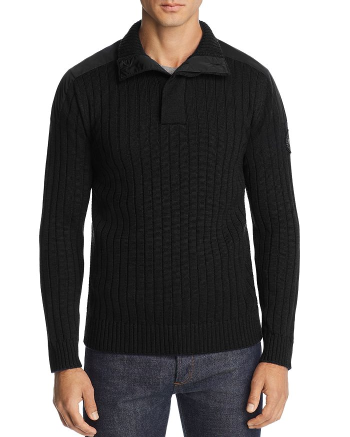 Canada Goose - Mixed-Media Ribbed Pullover Sweater
