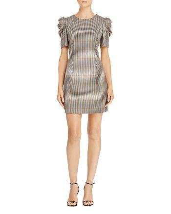 97a5da7477b61a Amanda Uprichard - Westwick Puff-Sleeve Plaid Dress