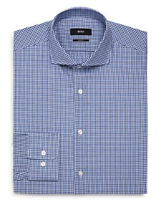 BOSS - Textured-Check Regular Fit Dress Shirt