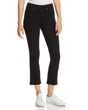 rag & bone/Jean Hana Slim Cropped Bootcut Jeans in Black