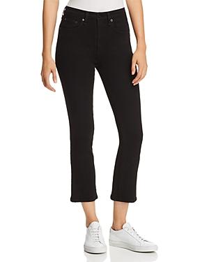 rag & bone/Jean Hana Slim Cropped Bootcut Jeans in Black