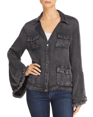 CHASER FRAYED BELL SLEEVE JACKET