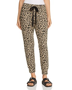 LNA - Brushed Leopard Print Sweatpants