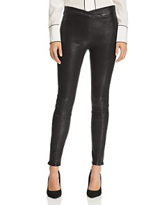 FRAME - Crossover-Waist Leather Pants