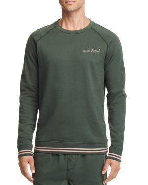 BANKS Matter Embroidered Sweatshirt in Forest Green