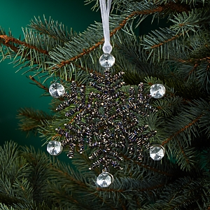 Aman Imports Beaded Snowflake Ornament
