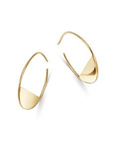 Moon & Meadow - 14K Yellow Gold Half Circle Hoop Earrings - 100% Exclusive